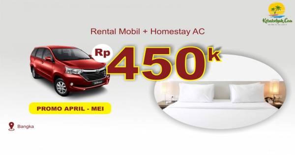 Rental Mobil Bangka + Homestay AC Bangka